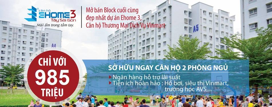block A0 dự án Ehome 3