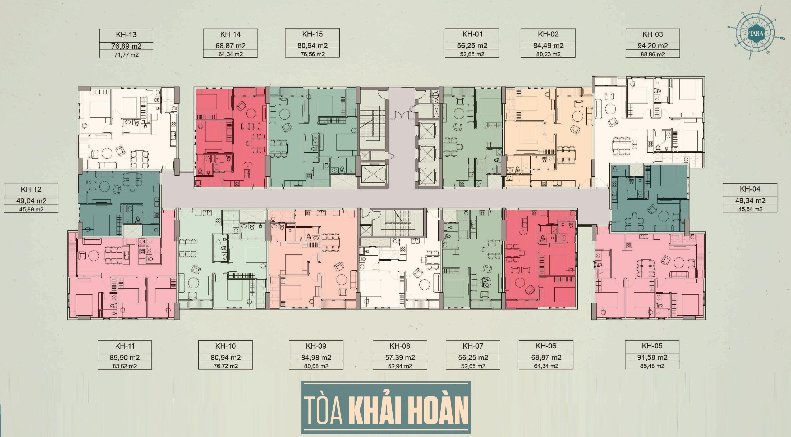 thiết kế Block Khải Hoàn dự án Tara Residence