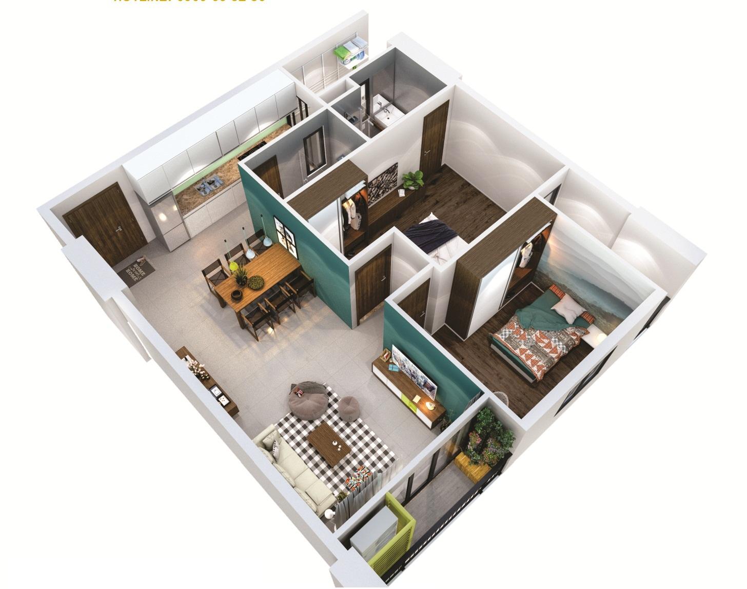 căn hộ Tara Residence 68m2