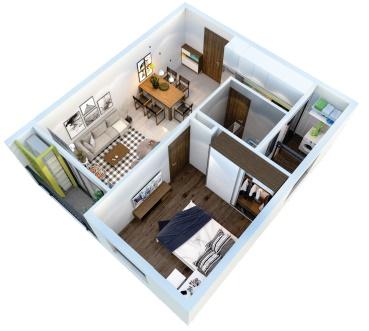 căn hộ Tara Residence 49m2