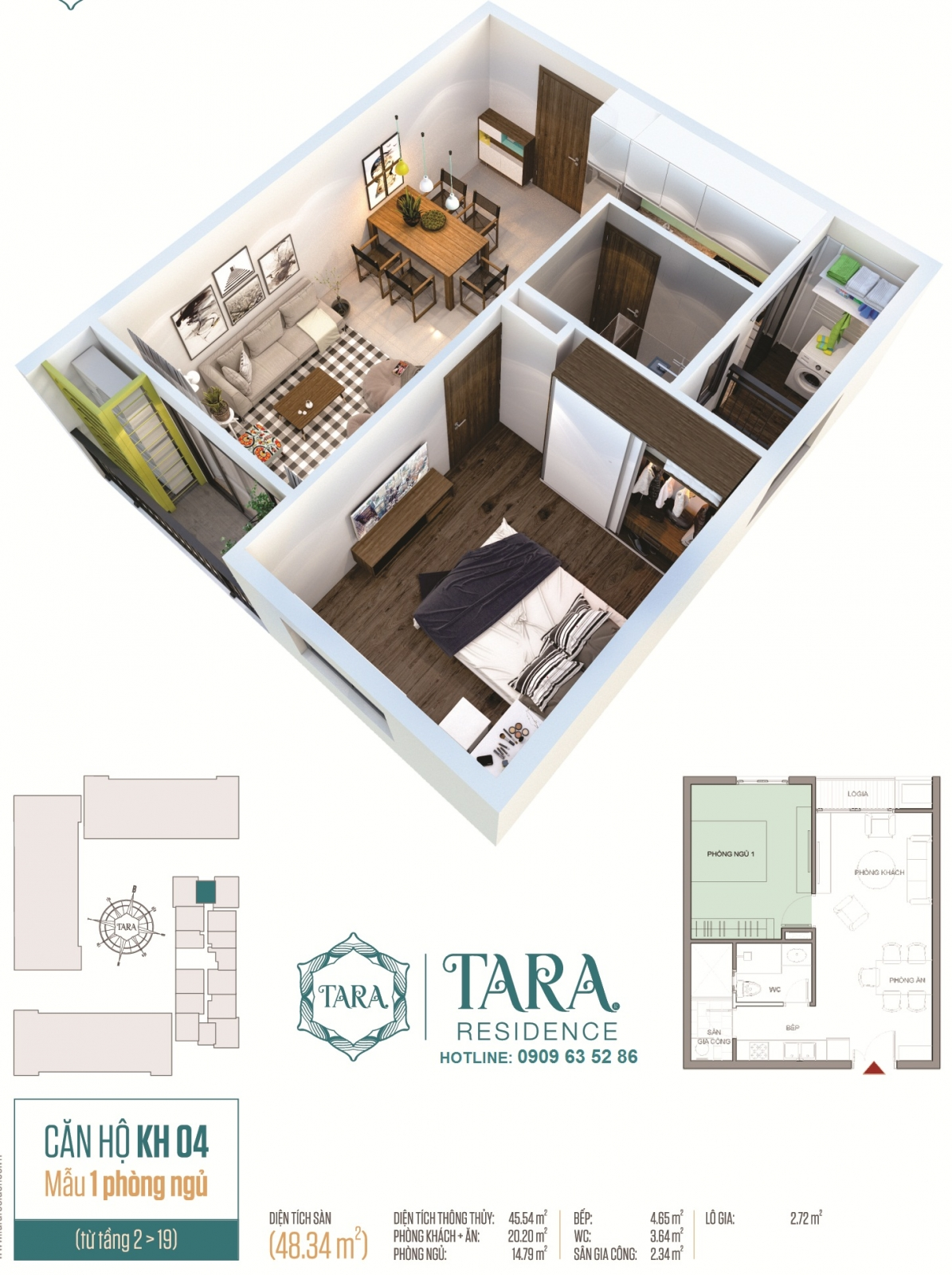 Thiết kế căn hộ Tara Residence
