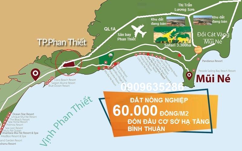 đất nông nghiệp, đất vườn Bình Thuận - 0909635286