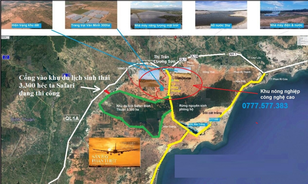 Đề án xây dựng Khu nông nghiệp công nghệ cao Bắc Bình 2.000 ha - 077577383