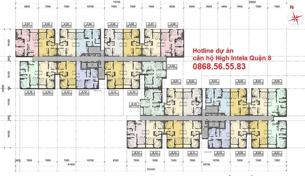 Thiết kế căn hộ High Intela Quận 8: 0868.56.55.83