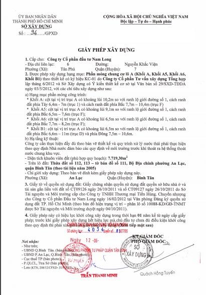 pháp lý block A0 căn hộ ehome 3