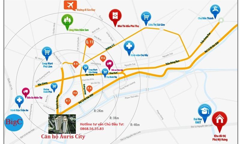 Căn hộ Auris City - Hotline tư vấn Chủ Đầu Tư: 0868.56.55.83