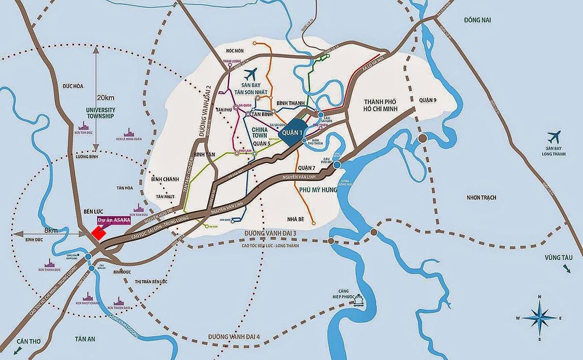 Dự án Asaka Riverside Khu Dân Cư Việt ÚcBến Lức Long An - Hotline: 0868565583