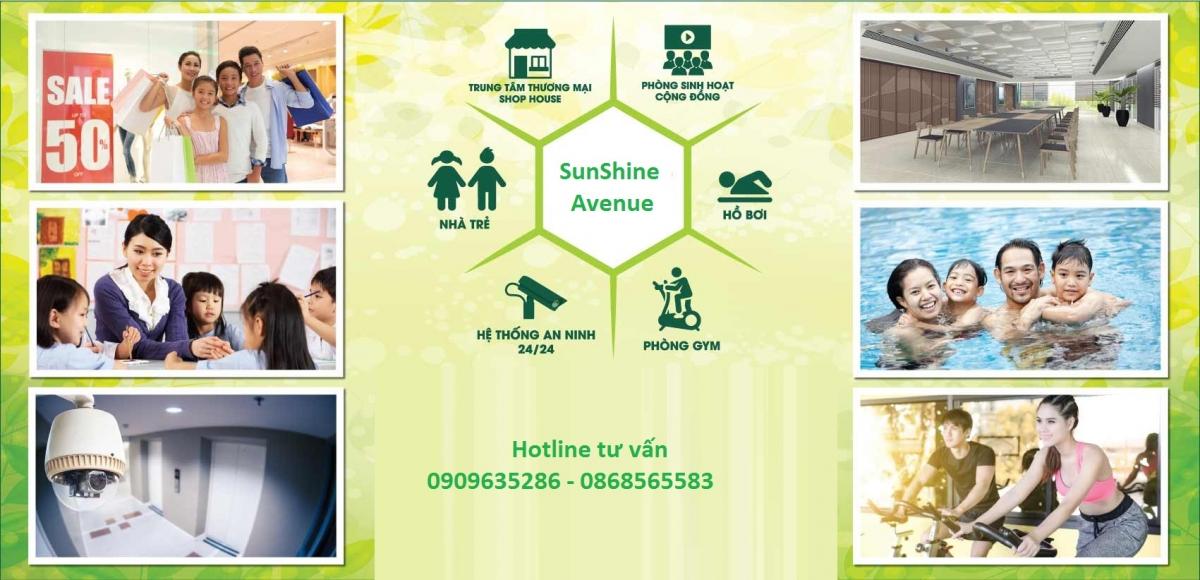 Tiện ích dự án Sunshine Avenue Quận 8 - Hotline tư vấn 0909635286 -0868565583